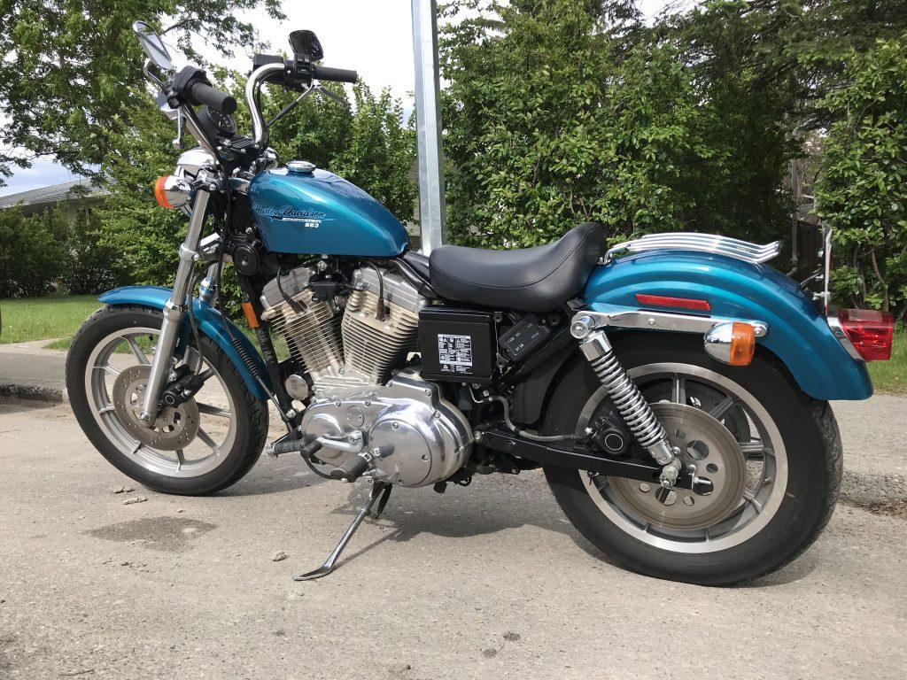 1995 Harley Davidson Sportster 883 Hugger (XLH883 Hugger) Rear and Side View