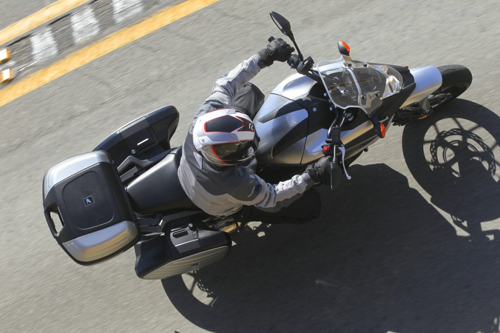 2012 Honda NC700X - Overhead with Honda Side Bags and top case