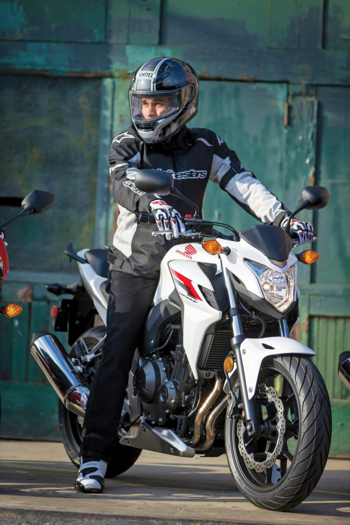 2013 Honda CB500F - Seated Rider
