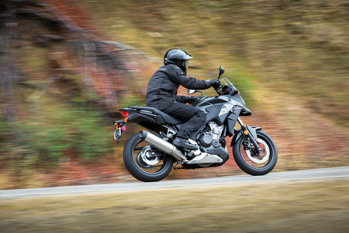 2013 Honda CB500X - riding