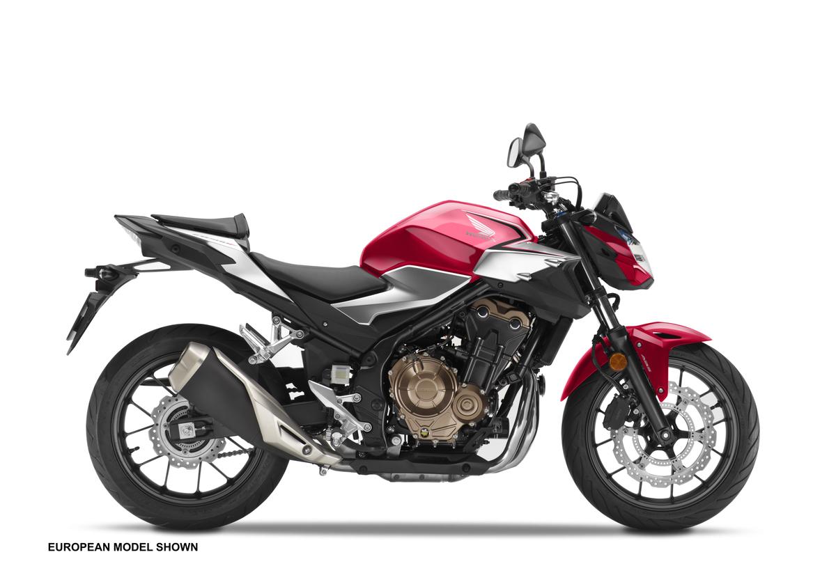 2019 Honda CB500F - Red - Side Profile