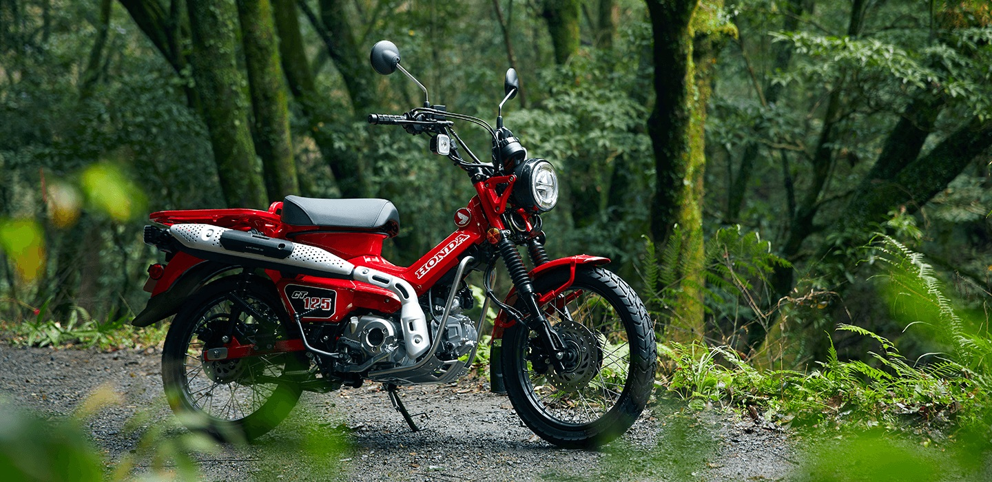 2021 Honda Trail 125 - in the woods