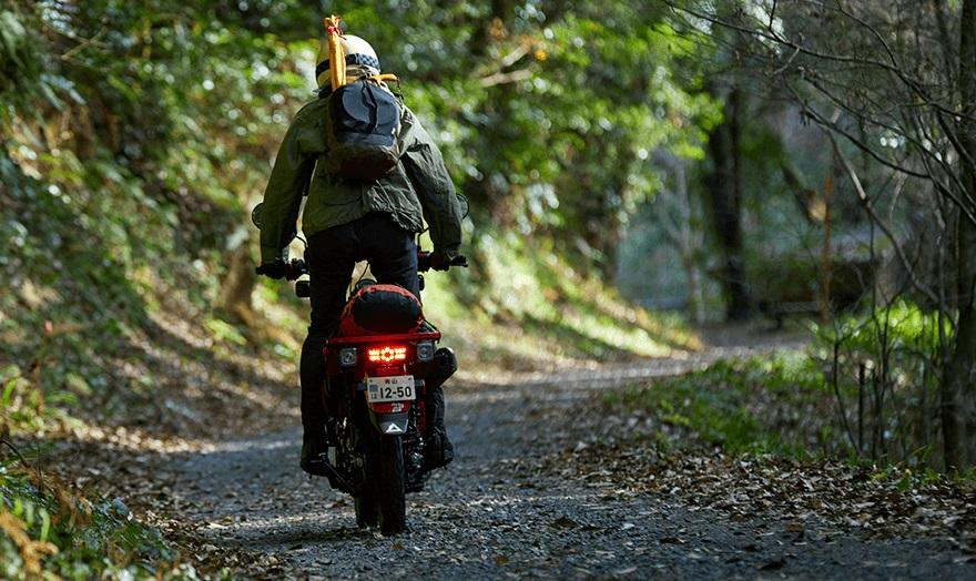 2021 Honda Trail 125 - heading down the trail