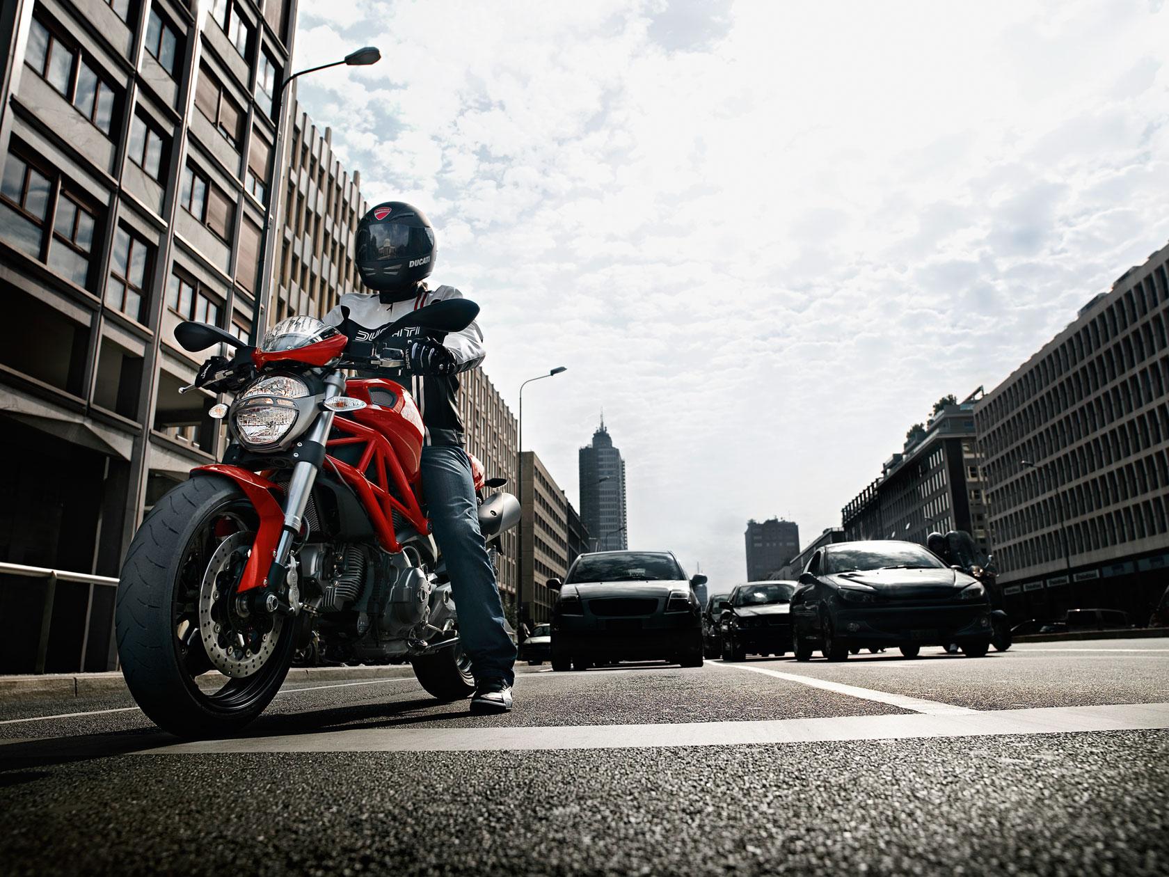 Ducati Monster 696 on the street