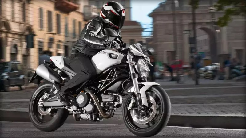Ducati Monster 696 on the move