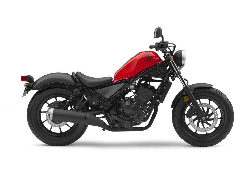 2017 Honda Rebel 300 - Red - Profile